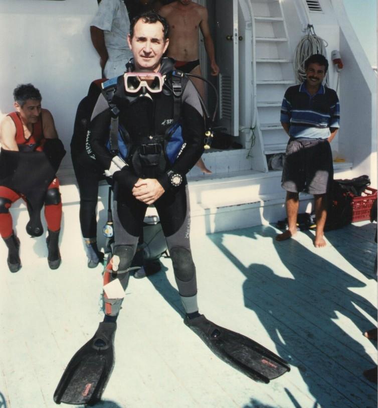 En el mar Rojo. En mer Rouge. Tenía 50 años/J'avais 50 ans