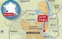 Situation du lycée Trégey à Bordeaux